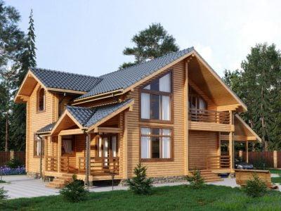 красивые деревянные дома фото